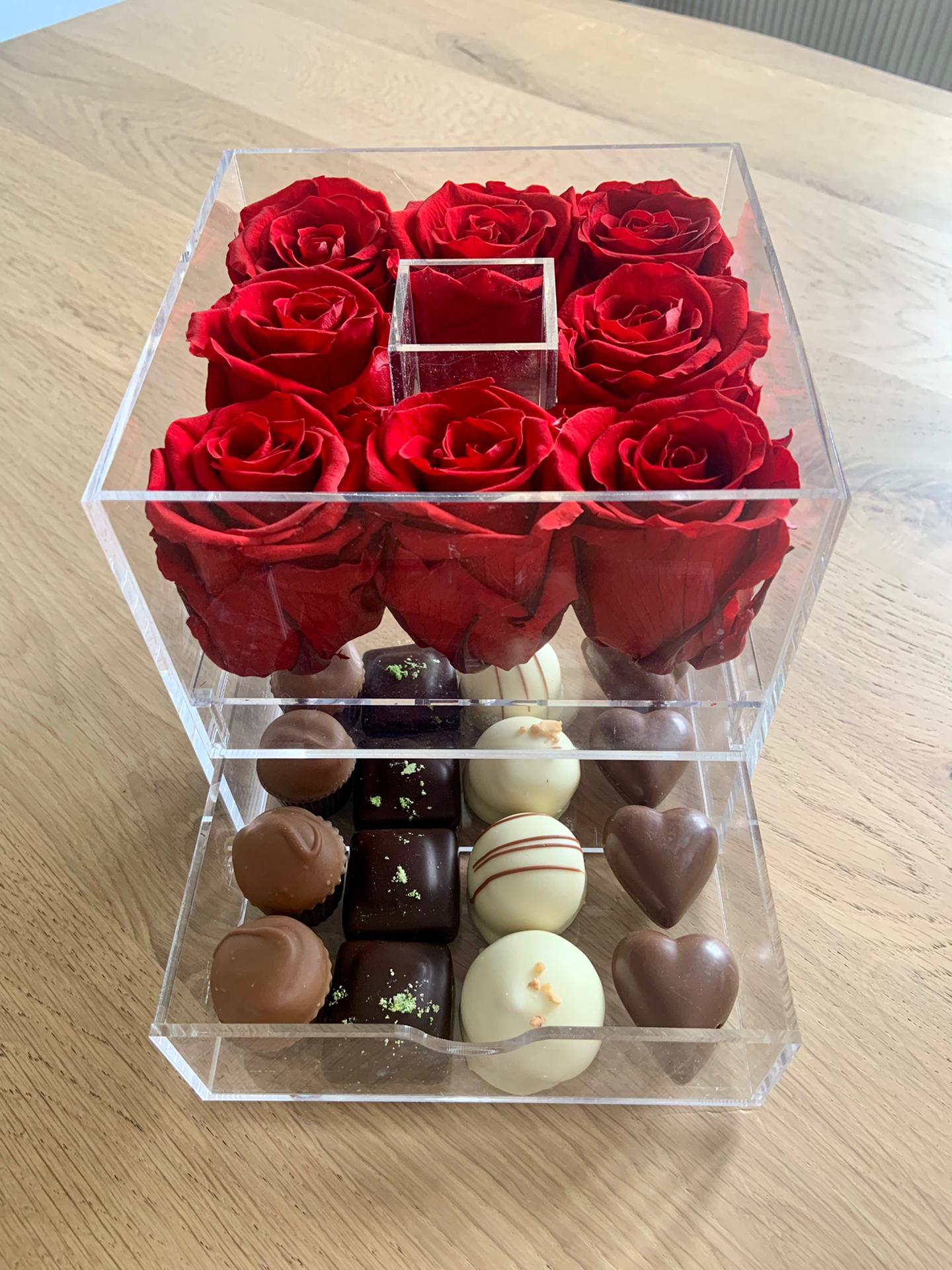 Formule 1 - roses éternelles et chocolats